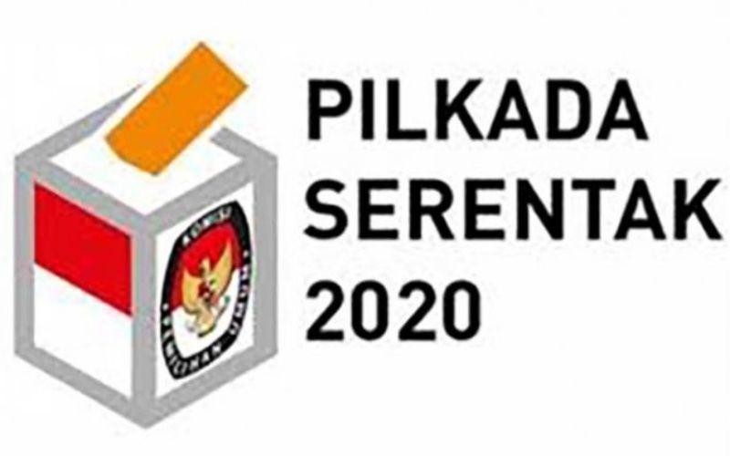 Logo Pilkada Serentak 2020. Tanpa penerapan protokol kesehatan Pilkada Serentak 2020 dikhawatirkan menjadi kluster baru Covid-19 - ANTARA/KPU