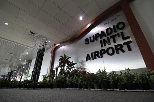 Bandara Supadio Pontianak yang kawasan sekitarnya akan dikembangkan proyek airport city. - Twitter