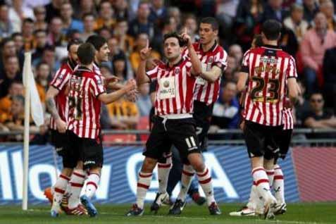 Pemain Sheffield United merayakan gol - Reuters