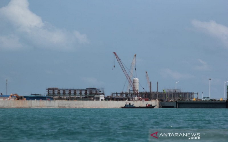 Kawasan proyek pembangunan smelter PT Bintan Alumina Indonesia di Kawasan Ekonomi Khusus Galang Batang, Kabupaten Bintan, Kepulauan Riau. - Antara/Nikolas Panama