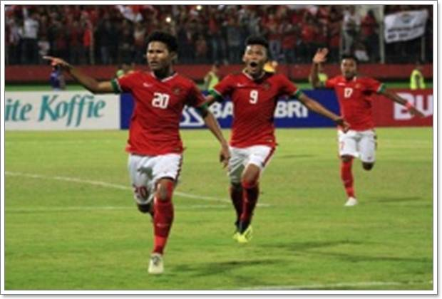 Amirudin Bagus Kahfi Alfikri (nomor 20) saat membela tim sepakbola Indonesia - PSSI.org
