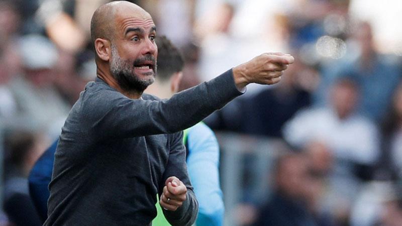 Pelatih Manchester City Pep Guardiola./Reuters - Paul Childs