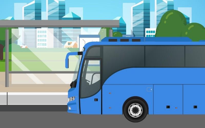 Ilustrasi bus gratis