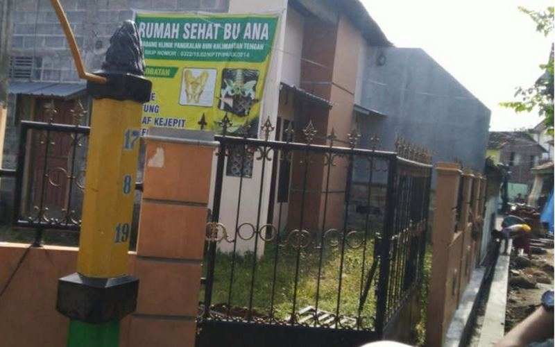 Rumah terduga teroris yang ditangkap di Kampung Purwosari Perbalan, Semarang Timur. - Antara