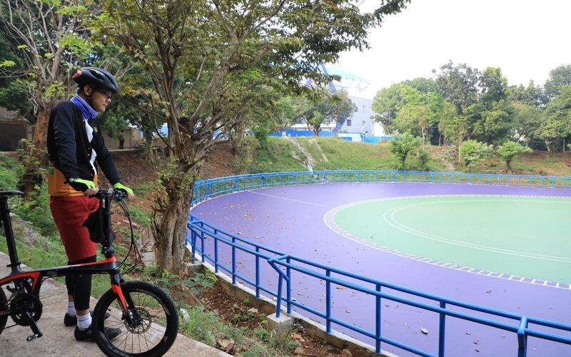 Gubernur Jawa Tengah Ganjar Pranowo saat mengecek salah satu venue di GOR Jatidiri Semarang. - Ist