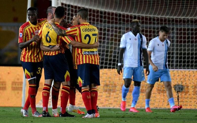 Pemain Lecce merayakan kemenangan atas Llazio di Liga Italia - Opta paolo