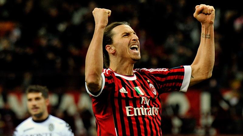 Striker AC Milan Zlatan Ibrahimovic - Sempre Milan