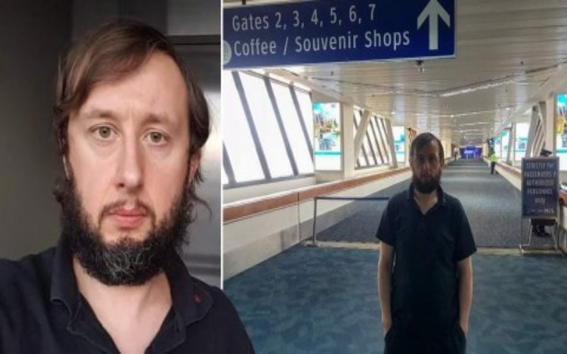 Roman Trofimov yang terjebak di bandara Manila