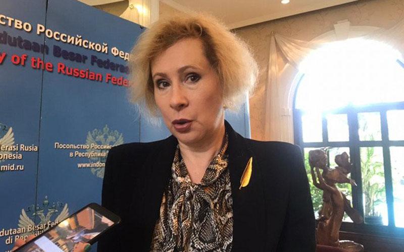 Dubes Rusia untuk Indonesia Lyudmila Georgievna Vorobieva/Antara - Aria Cindyara