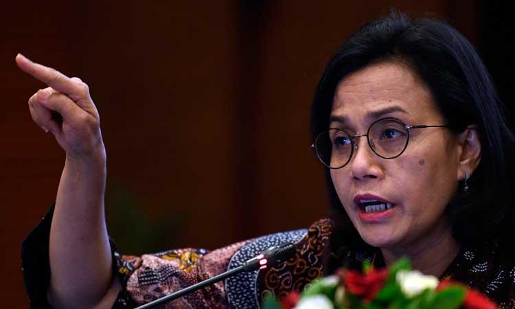 Menteri Keuangan Sri Mulyani menyampaikan realisasi Anggaran Pendapatan dan Belanja Negara (APBN) 2020 di Jakarta, Rabu (19/2/2020)./ FOTO ANTARA - Puspa Perwitasar