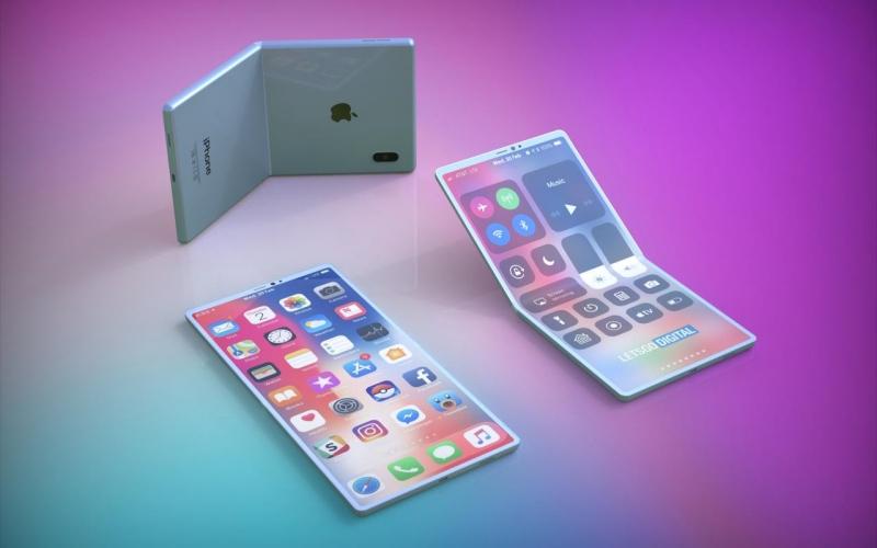Tanpilan ponsel lipat buatan Apple. - slashgear.com