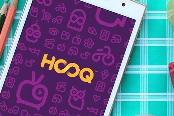 Tampilan aplikasi layanan pemutar video Hooq - Reuters