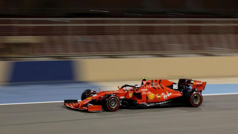 Pembalap Scuderia Ferrari Charles Leclerc - Reuters/Thaier Al/Sudani