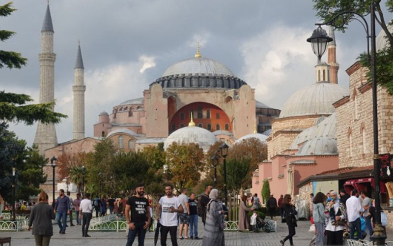 Hagia Sophia di Istanbul, Turki./Antara - Nanien Yuniar