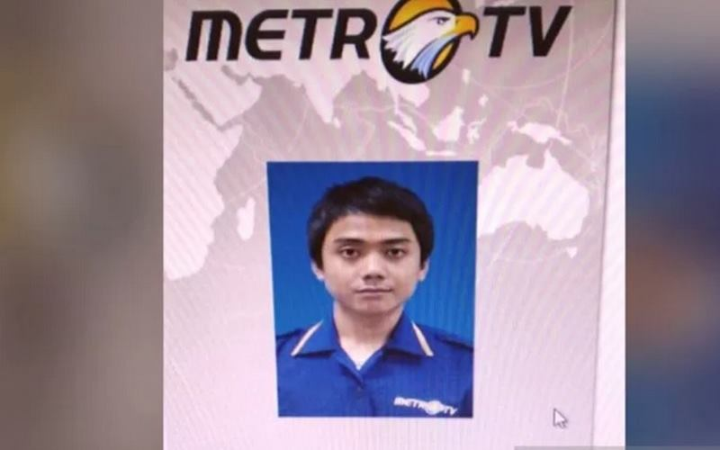 Editor Metro TV Yodi Prabowo yang ditemukan tewas Jumat (10/7/2020) pukul 11.45 WIB di Jalan Ulujami Raya, Kecamatan Pesanggrahan, Jakarta Selatan. - Antara