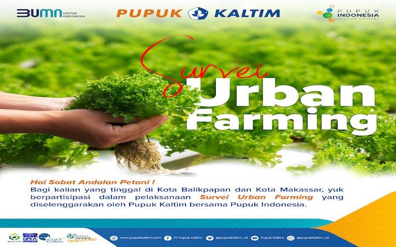 Pupuk Kaltim bersama dengan Pupuk Indonesia menggelar survei urban farming di Balikpapan dan Makassar. - JIBI/Istimewa