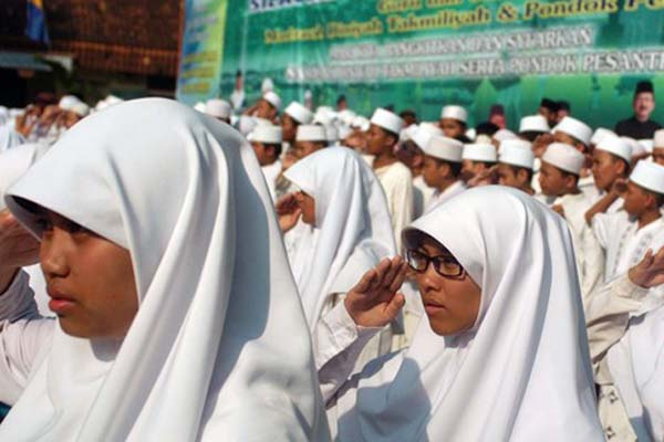 Ilustrasi-Siswa madrasah - Antara/Ujang Zaelani