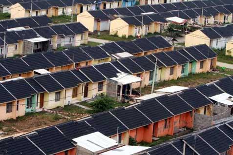 Kawasan perumahan di salah satu lokasi di Bekasi. - Bisnis