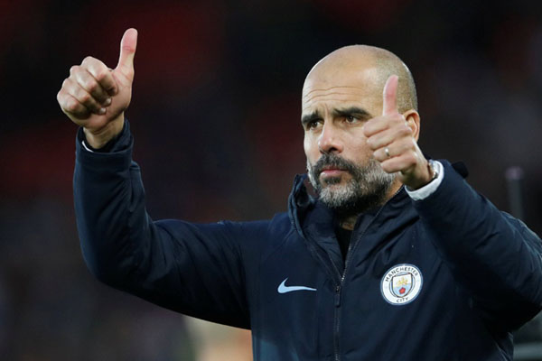 Pelatih Manchester City Pep Guardiola - Reuters/Carl Recine