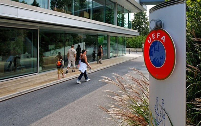 Markas Union of European Football Associations (UEFA) di Nyon, Swiss. - UEFA.com