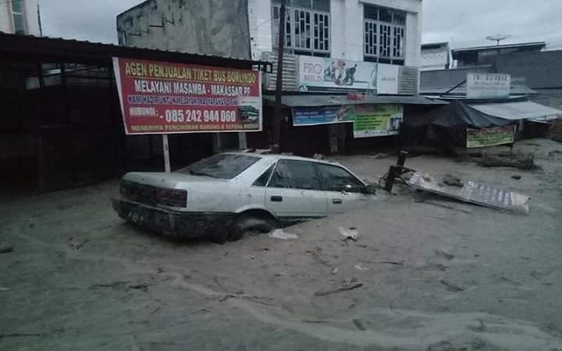 gambaran kondisi banjir di Luwu Utara - Istimewa