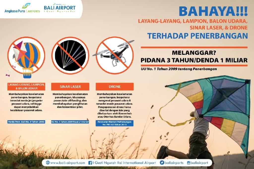Infografis: Bahaya Layang/layang Terhadap Penerbangan.