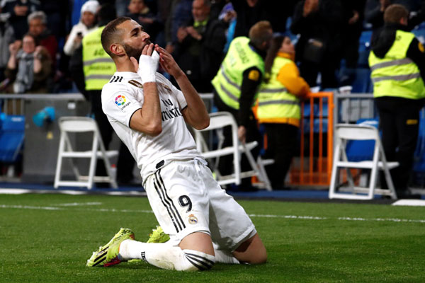Penyerang Real Madrid Karim Benzema/Reuters - Juan Medina