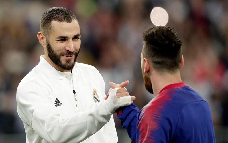Karim Benzema (kiri) dan Lionel Messi. - Transgaming