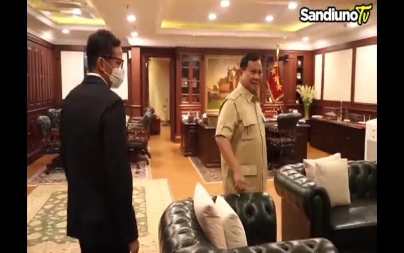 Pertemuan Sandiaga Uno dan Prabowo