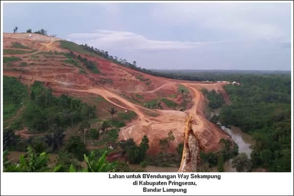 Lokasi proyek Bendungan Way Sekampung. - Bisnis