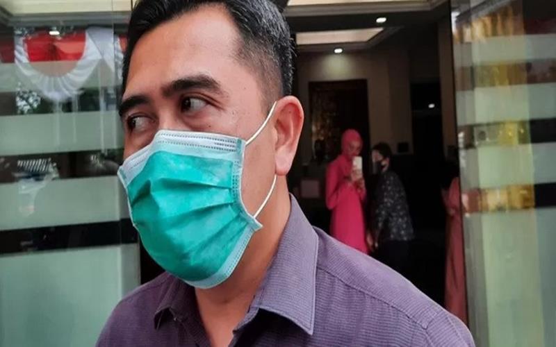 Kasat Reskrim Polda Metro Jaya AKBP Irwan Susanto memberikan keterangan kepada awak media di Mapolres Jakarta Selatan, Jumat (17/7/2020). - Antara