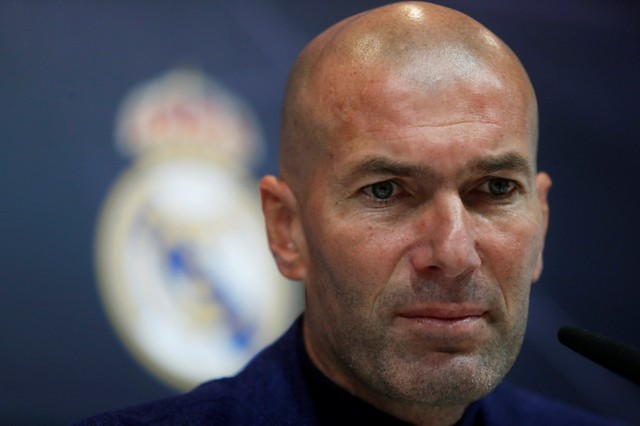 Pelatih Real madrid Zinedine Zidane - Reuters