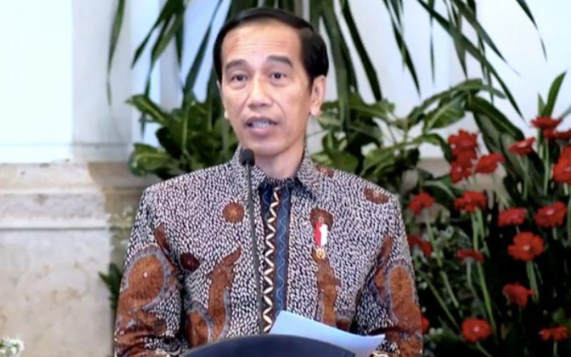 Presiden Joko Widodo menyampaikan sambutan usai menerima Laporan Hasil Pemeriksaan atas Laporan Keuangan Pemerintah Pusat (LHP LKPP) 2019 dari Badan Pemeriksa Keuangan di Istana Negara, Jakarta, Senin (20/7 - 2020) / Akun Youtube Sekretariat Presiden