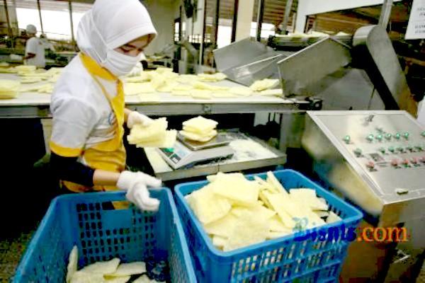 Pekerja di pabrik pengolahan makanan - JIBI