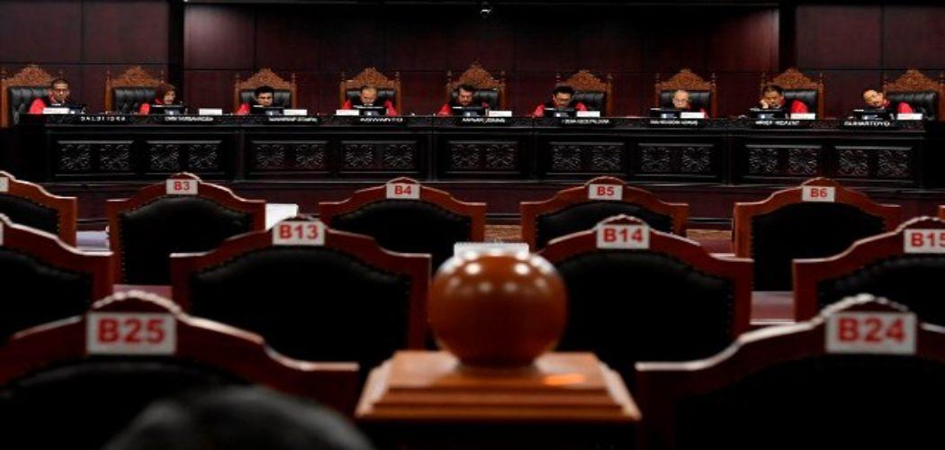 Suasana sidang di Mahkamah Konstitusi (MK)