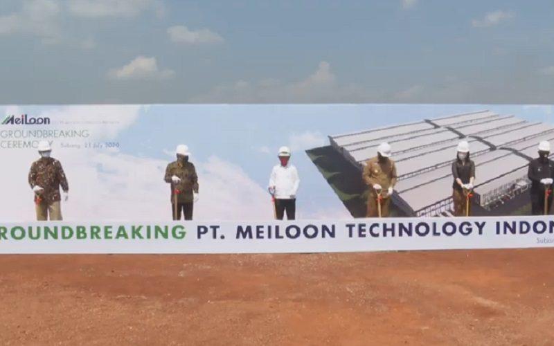 Groundbreaking relokasi pabrik PT Meiloon Technology di Kabupaten Subang, Jawa Barat. / Istimewa