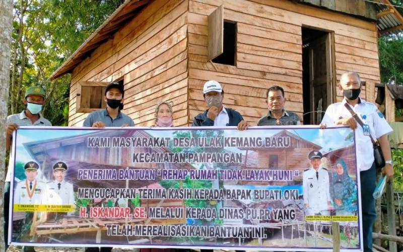 Program rehab rumah tidak layak huni oleh Pemkab Ogan Komering Ilir, Sumatra Selatan. - istimewa