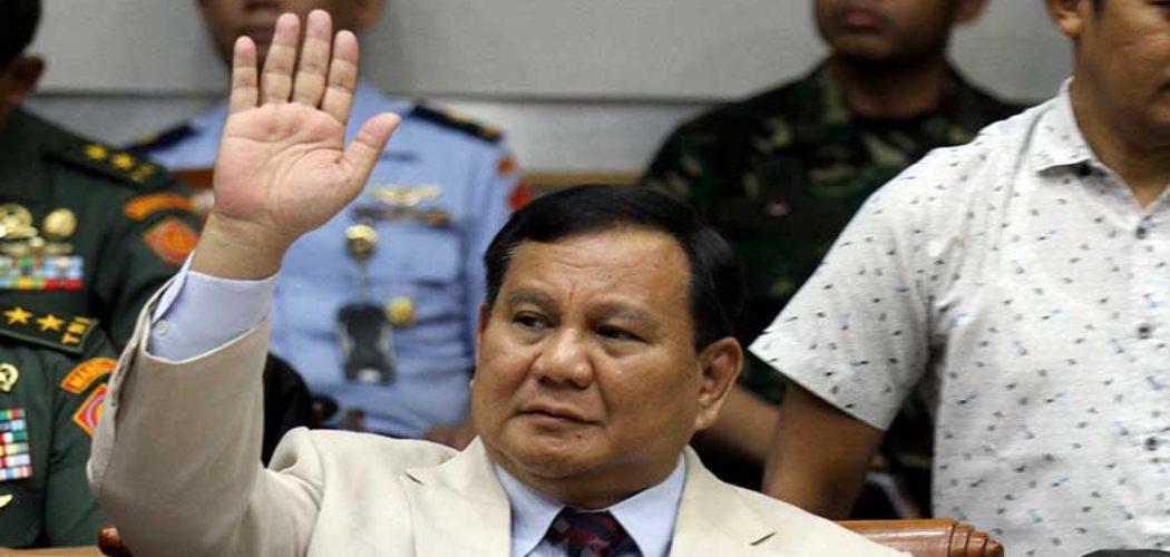 Menteri Pertahanan Prabowo Subianto saat mengikuti rapat kerja dengan Komisi I DPR di kompleks parlemen, Jakarta, Senin (20/1/2020). Bisnis - Arief Hermawan P