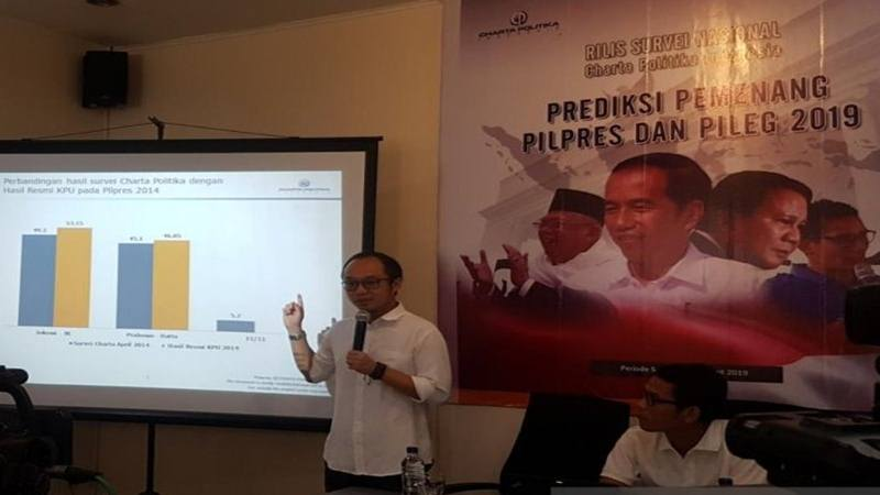 Direktur Eksekutif Charta Politika Indonesia Yunarto Wijaya - Antara