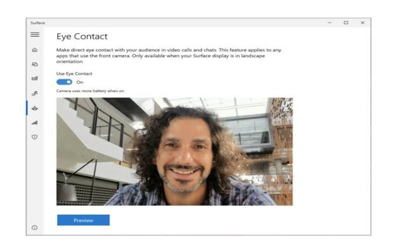 Microsoft eye contact -
