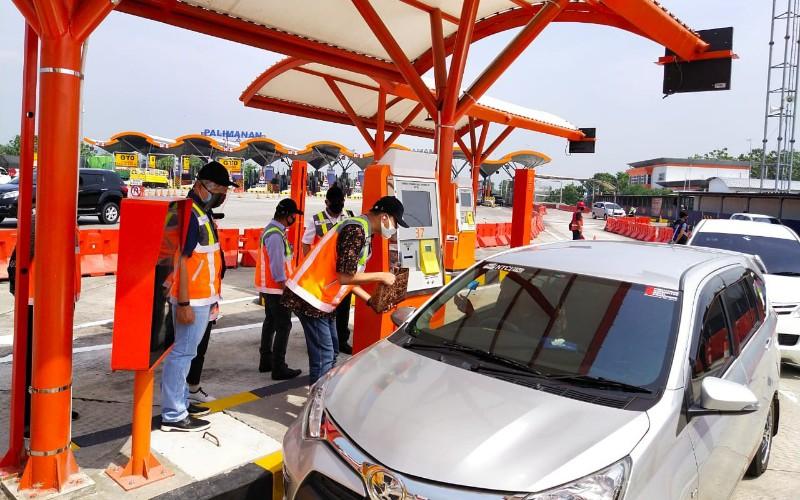 Astra Tol Cipali melakukan pelebaran akses Gerbang Tol Palimanan dan menambah jumlah gardu tol otomatis, untuk menyambut Hari Raya Iduladha 1441 pada 31 Juli. - Istimewa