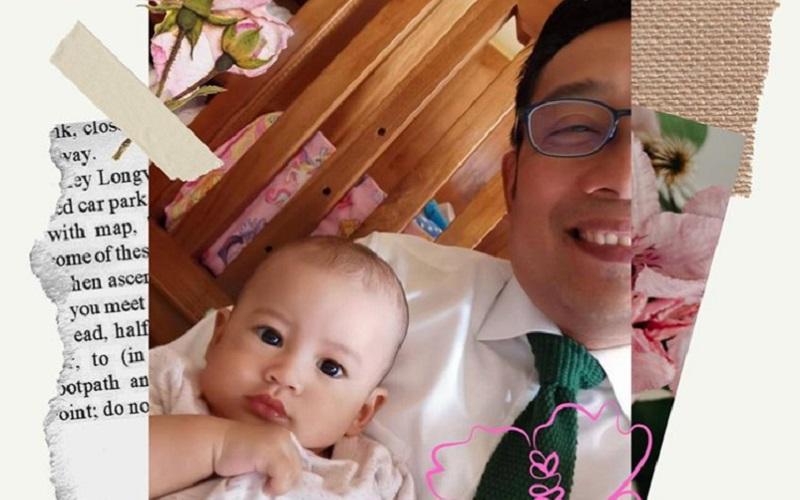 Gubernur Jawa Barat Ridwan Kamil mengenalkan anggota keluarga baru, Arkana Aidan Misbach - Instagram