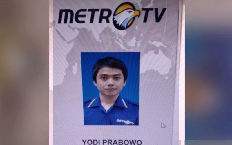 Editor Metro TV Yodi Prabowo.  - ANTARA
