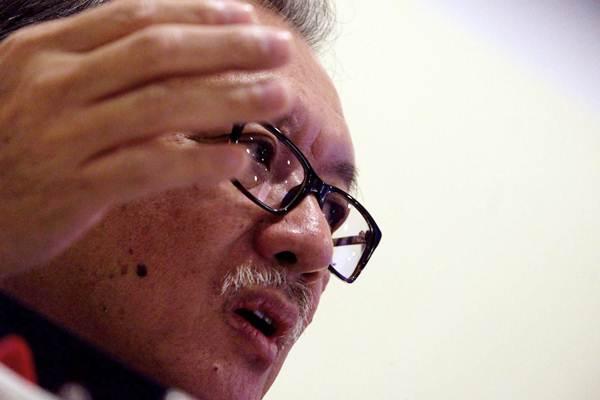 Ketua Dewan Komisioner Lembaga Penjamin Simpanan (LPS) Halim Alamsyah memberikan penjelasan pada konferensi pers, di Jakarta, Rabu (18/7/2018). - JIBI/Nurul Hidayat