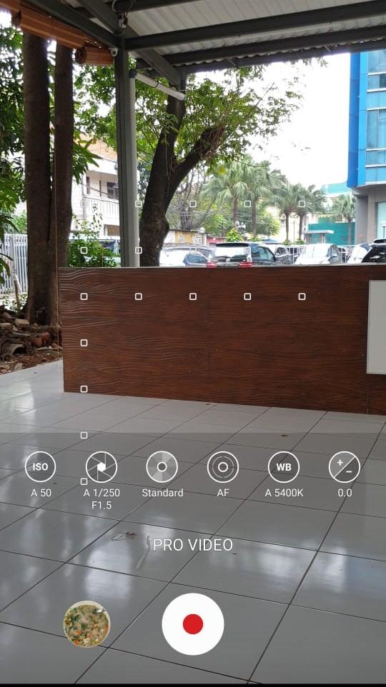 Tampilan Video Pro Samsung Note 9