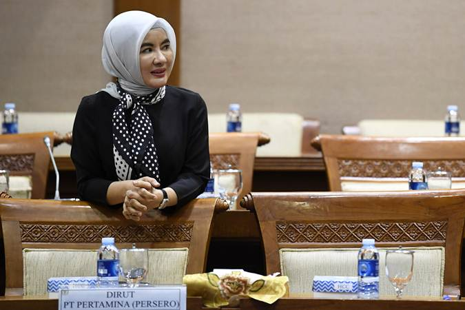 Direktur Utama PT Pertamina Nicke Widyawati.  - ANTARA/Puspa Perwitasari