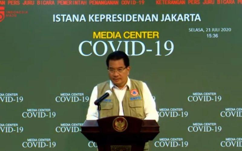 Juru Bicara Satgas Penanganan Covid-19 Wiku Adisasmito dalam konferensi pers update Covid-19 di Jakarta, Selasa (21/7 - 2020) / Youtube Setpres