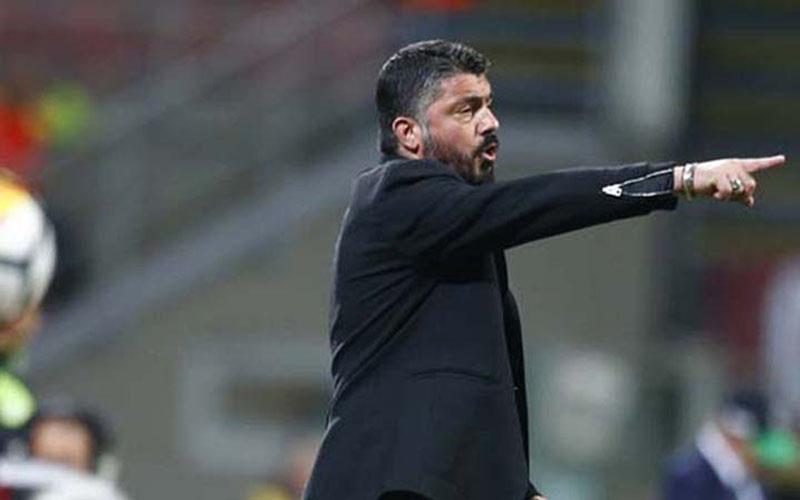 Pelatih Napoli Gennaro Gattuso, tim asuhannya telah mengamankan tiket fase grup Liga Europa berkat menjuarai Coppa Italia. - Twitter@acmilan