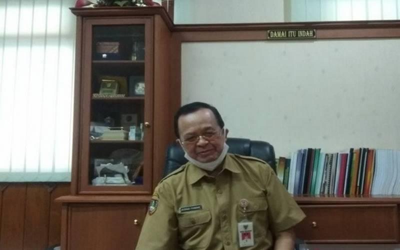 Wakil Walikota Solo Achmad Purnomo saat memberikan keterangan kepada wartawan. - Antara