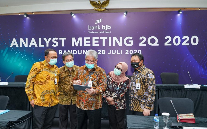 Analyst Meeting Bank BJB triwulan II 2020 - Istimewa